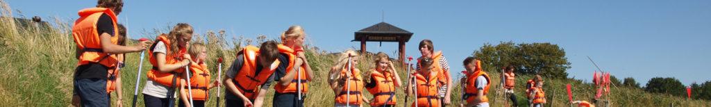 forskoler klassetur i orange veste