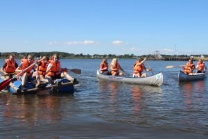 kano flåde og tømmerflåde ræs