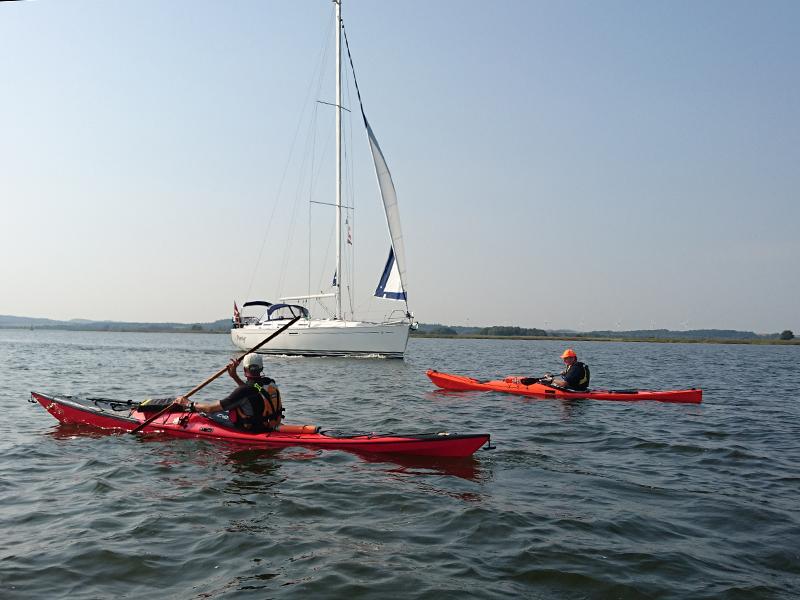 Kajakker, kanoer og sejlbåde kan være næsten helt lydløse på vandet.
